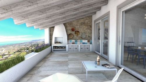 INDEPENDENT APARTMENTS SEA VIEW 105 SQM WITH TWO BATHROOMS - BAIA DEI TRAMONTI.